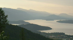 Scenic Sandpoint Lake Pend Oreille Pan 131 Stock Footage