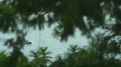 Motorboat Scenic Idaho Lake 76 Stock Footage