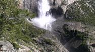 Upper Falls Medium Tilt Up2 Stock Footage