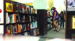 Bookstore Teens Stock Footage
