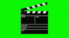 Movie production clapper-board - stock footage