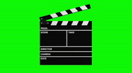 Stock Video Footage of Movie production clapper-board