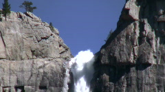 Upper Falls CU Zoom Out to Wide Stock Footage