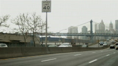 Cars on FDR Drive in New York City - stock footage