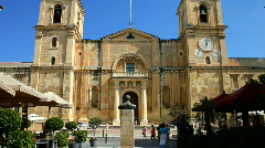 Main entrance to St John Co-Catherdal Valetta Malta Stock Footage