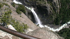 Lower Falls Wide Zoom In to Medium Stock Footage