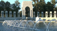 World War II Memorial Stock Footage