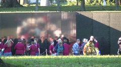 Viet Nam Memorial139 Stock Footage