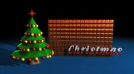 Christmas Studio with Christmas Tree and Video Wall Stock After Effects