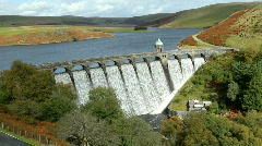 Above Craig Goch dam Stock Footage