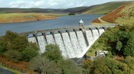 Stock Video Footage of Above Craig Goch dam