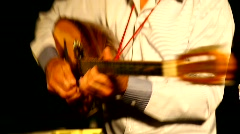 Oud guitar playing during the Saharane festival in Tivon, Israel  Stock Footage