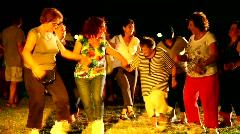 Folk dancing during the Saharane festival in Tivon, Israel  Stock Footage