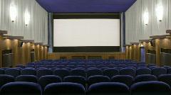 Closing curtain 30p Stock Footage