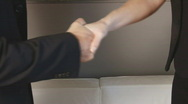 Business hand shake  Stock Footage