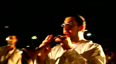 Zurna flute and drum during the Saharane festival in Tivon, Israel  Stock Footage