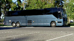 Huge Luxury Travel Bus Stock Footage