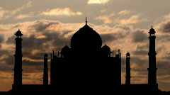 Golden taj mahal - stock footage