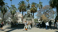 Central Square of Salta Stock Footage