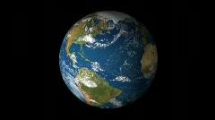 True 3D Northern Winter Globe - stock footage