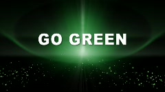 Go Green Title w-Alpha Stock Footage