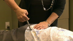 Chiropractic adjustment Stock Footage