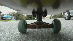 Skateboard. Starting & stopping. Stock Footage