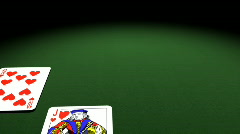 Royal Flush flips over to reveal POKER text. Stock Footage