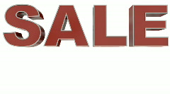 Sales in minus percents - stock footage
