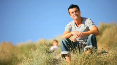 Father & Son Fun Together Stock Footage