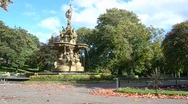 Stock Video Footage of Ross Fountain, Princes Street Gardens, Edinburgh, Scotland
