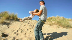 Father & Son Playtime Stock Footage