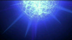 Mirror ball,party,Electricity network,blue nebula and whirl laser,energy tech Stock Footage