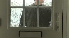 Visitor Pressing Doorbell - stock footage