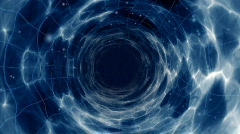 Wormhole flight to another dimension Stock Footage