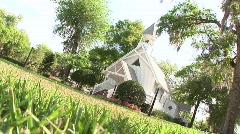 Rack Focus Dutch Angle on Church Chapel Stock Footage