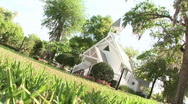 Stock Video Footage of Rack Focus Dutch Angle on Church Chapel