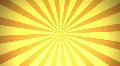 Retro Radial, Orange (24fps) Footage