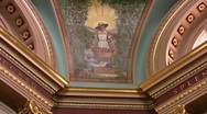 Stock Video Footage of Rotunda Murals in the British Columbia Capitol building in Victoria Canada