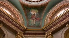 Rotunda Murals in the British Columbia Capitol building in Victoria Canada Stock Footage