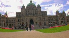 Exterior of capitol Building in Victoria British Columbia Stock Footage