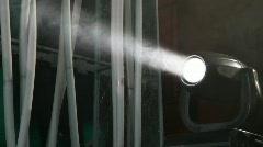 Stock Video Footage of light of disco searchlight in smoke in nightclub