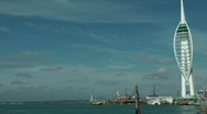 Stock Video Footage of Portsmouth Harbour Time Lapse