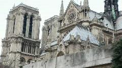 Notre Dame de Paris, view from Siene river Stock Footage
