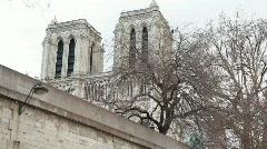 View of Notre Dame de Paris, France Stock Footage
