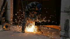 metal worker - stock footage