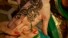 Henna Painting - stock footage