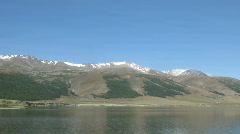 Mountain Lake Dayan Nuur Time Lapse Stock Footage