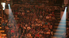 Stock Video Footage of audience applauds in the Old Nikulin Circus, Moscow, Russia