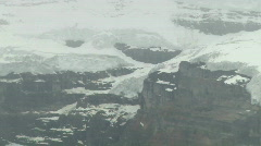 Lake Louise mountain Ice glacier zoom out Twice Stock Footage